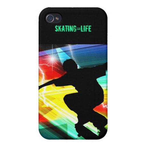 Skateboarder in Criss Cross Lightning iPhone 4/4S Cases
