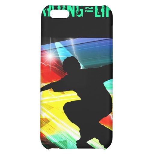 Skateboarder in Criss Cross Lightning Cover For iPhone 5C