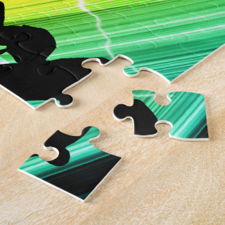Skateboarder in Criss Cross Lightning Jigsaw Puzzle