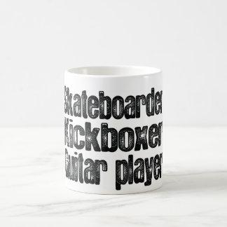 Skateboarder, Kickboxer, Guitar Player Classic White Coffee Mug