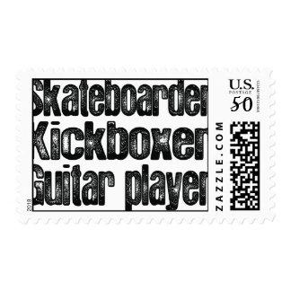 Skateboarder Kickboxer Postage