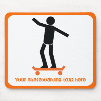 Skateboarder on his skateboard custom mouse pad