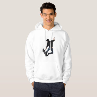 Skateboarder on the fly hoodie