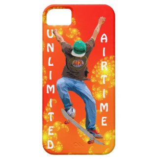 Skateboarder & Orange Fractals Action Sports Art iPhone 5 Cover