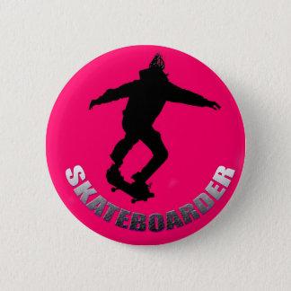 Skateboarder Pinback Button
