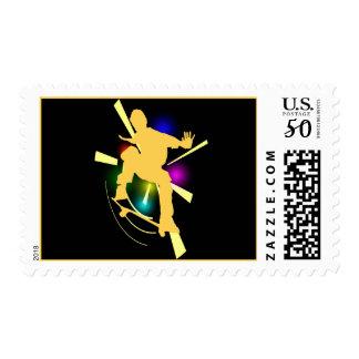 Skateboarder Postage Stamp