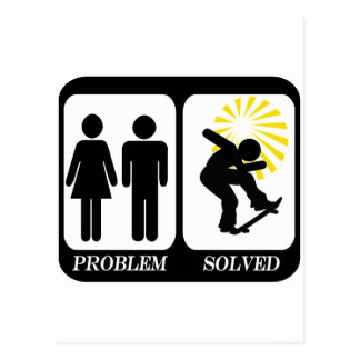 SKATEBOARDER  PROBLEM SOLVED POSTCARD