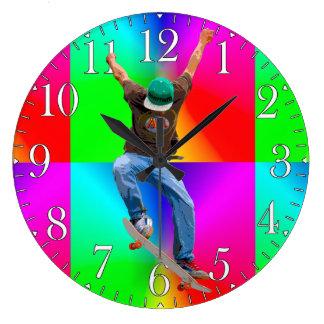 Skateboarder Psychaedelic Action Sports Art Wall Clock