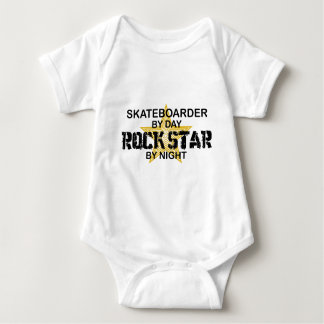 Skateboarder Rock Star by Night Baby Bodysuit