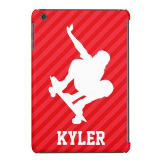Skateboarder; Scarlet Red Stripes iPad Mini Retina Case