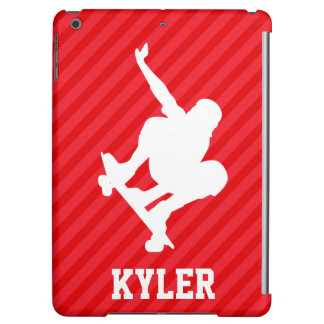Skateboarder; Scarlet Red Stripes iPad Air Case