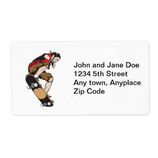 Skateboarder Shipping Label