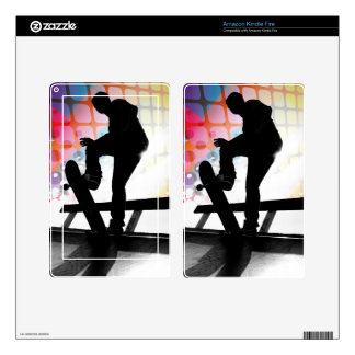 Skateboarder Silhouette Decal For Kindle Fire