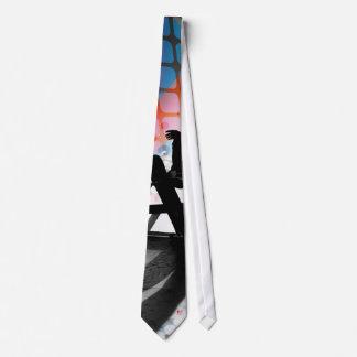 Skateboarder Silhouette Tie