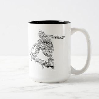 Skateboarder word collage coffee mug