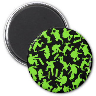 Skateboarders Collage 2 Inch Round Magnet