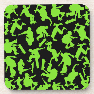 Skateboarders Collage Coaster