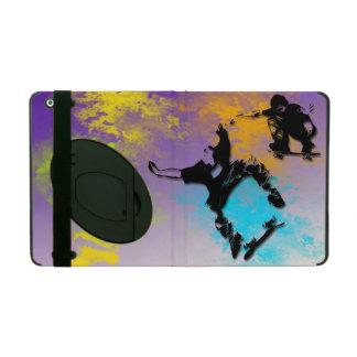Skateboarders iPad 2/3/4 Case with Kickstand iPad Folio Cases