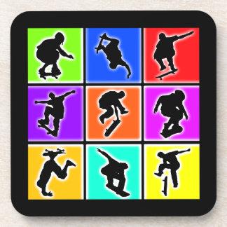 Skateboarders Pop Art Coaster