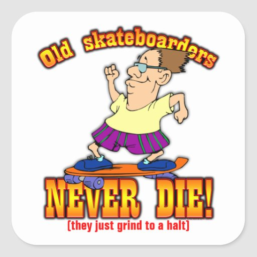 Skateboarders Square Stickers