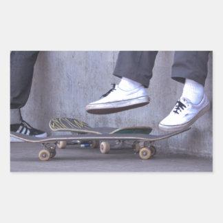 Skateboarders Take a Rest Rectangular Sticker
