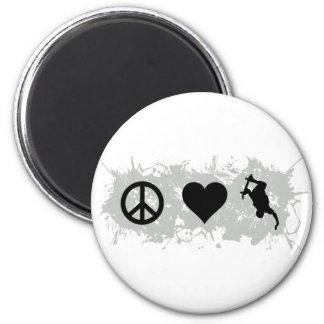 Skateboarding 1 2 inch round magnet