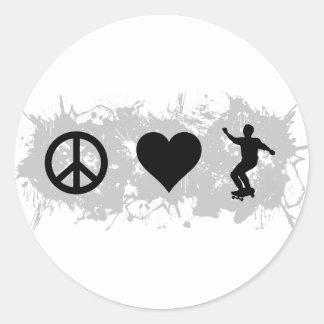 Skateboarding 3 classic round sticker