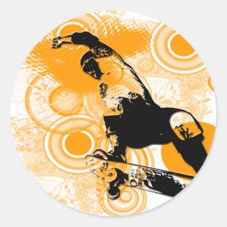 Skateboarding Air Classic Round Sticker