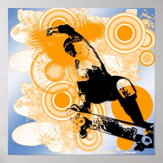 Skateboarding Air Poster