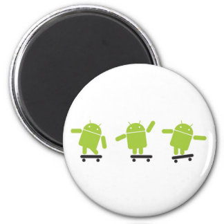 Skateboarding Android 2 Inch Round Magnet
