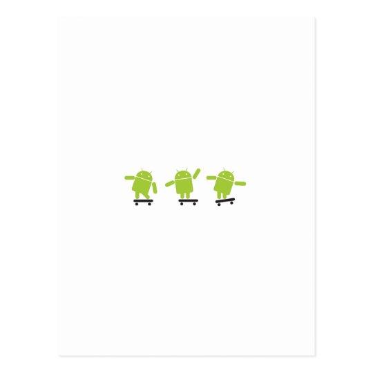 Skateboarding Android Postcard