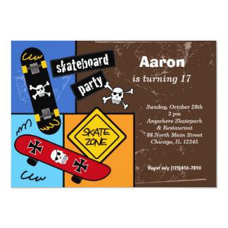 Skateboarding Birthday (Dark Brown) Card