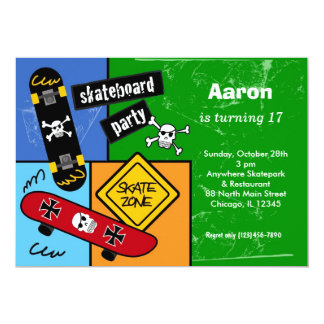 Skateboarding Birthday (Green) Card