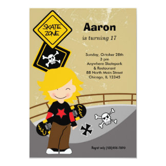 Skateboarding Birthday (Light Brown) Card