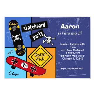 Skateboarding Birthday (Navi Blue) Card