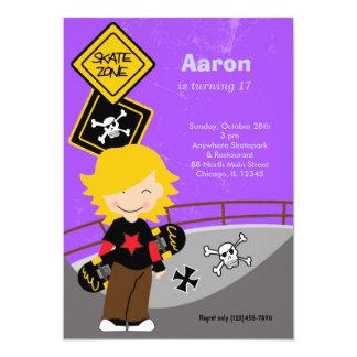 Skateboarding Birthday (Purple) Card