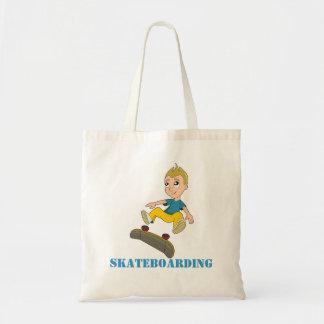 Skateboarding boy cartoon bag