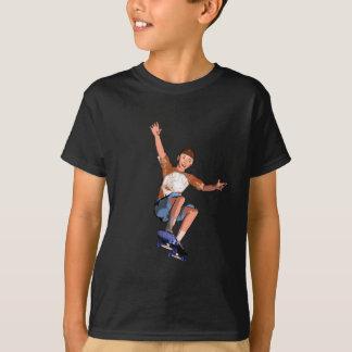 Skateboarding Boy Illustration Tee Shirt