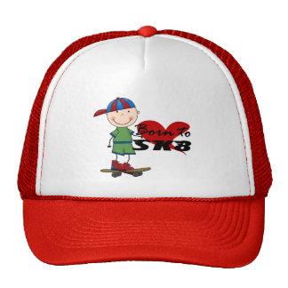 SKATEBOARDING - Boy in Baseball Cap Trucker Hat