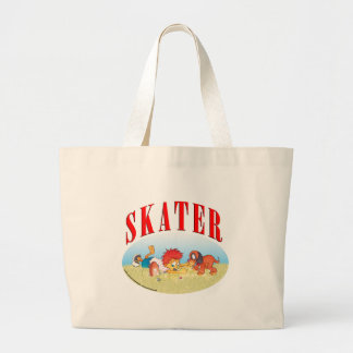 Skateboarding Boy Large Tote Bag