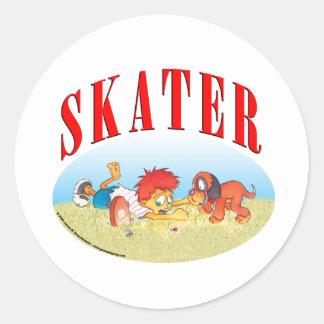 Skateboarding Boy Stickers