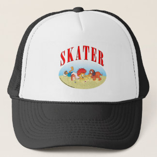 Skateboarding Boy Trucker Hat