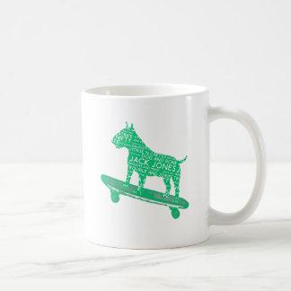 skateboarding bull terrier Arsenic Green Cockney Coffee Mug