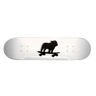 Skateboarding Bulldog Silhouette Skateboard Deck