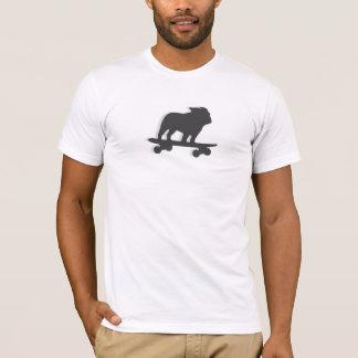 Skateboarding Bulldog Silhouette T-Shirt