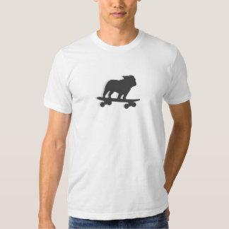 Skateboarding Bulldog Silhouette T-shirts