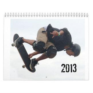 SkateBoarding Calendar, Copyright Karen J Williams Calendar