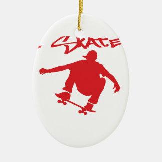 Skateboarding Ceramic Ornament