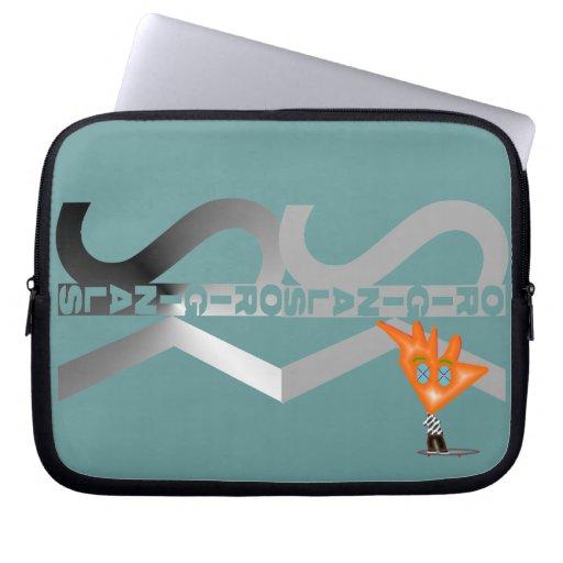 Skateboarding Character 3D Metal Laptop/Netbook Computer Sleeves