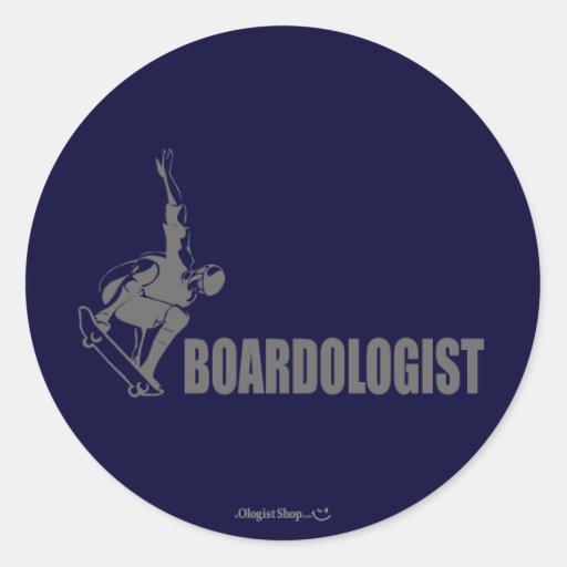 Skateboarding chistoso pegatina redonda